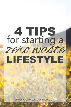 4 tips for starting a zero waste lifestyle and become a conscious consumer from wwww.goingzerowaste.com