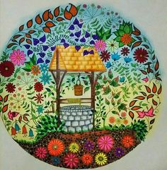 Well Secret Garden Poco Jardim Secreto Johanna Basford Coloring BooksAdult
