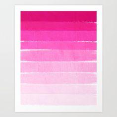 Pink ombre brushstroke | Society6
