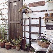 Entrance,アンティーク,DIY,サインプレート,小さな庭,ガーデンフェンスに関連する他の写真