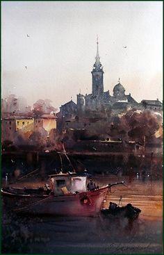 Dusan Djukaric - Watercolor, 34x53 cm