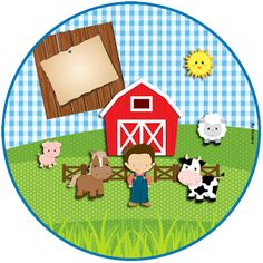 "Custom Theme Kit ""Fazendinha Boy"" for Printing - Invitations Digital Simple Party Animals, Farm Animal Party, Barnyard Party, Farm Party, Farm Birthday, Animal Birthday, Birthday Party Themes, Horse Party, Cowboy Party"