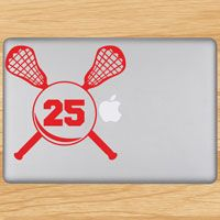 Lacrosse Laptop Stickers and More