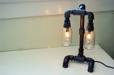Industrial Desk Lamp plumbing pipe upcycled by RoscaLights on Etsy, $195.00