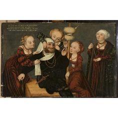 Cranach, Lucas (1472-1553; st) Title: Hercules et Omphale, after 1537 Technique: oil, tempera Material: oak plank