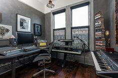 Multi Media Office - contemporary - home office - san francisco - by Aaron Gordon Construction, Inc.