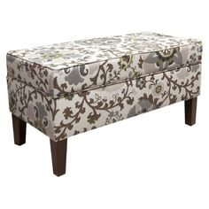 Perfect lines, softly upholstered by hand, hide a secret storage space for blankets, linens, games and more. This storage bench is a chic addition anywhere you need extra seating or more organizational space. Finished in a variety of bold upholstery options.