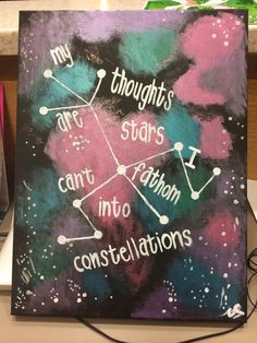 The Fault In Our Stars Quote Canvas on Etsy, $25.00