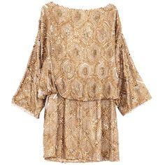 Dress Carmea Gold ($535) ❤ liked on Polyvore