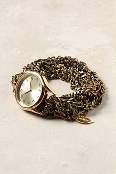 Anthropologie gold watch - beautiful!