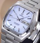 VINTAGE OMEGA SEAMASTER AUTOMATIC DAY&DATE CAL 1020 WHITE DIAL DRESS MEN'S WATCH