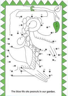 vogels , dot to dot, free printable Christmas Worksheets, Worksheets For Kids, Kids Study, Art For Kids, Dot To Dot Puzzles, Dot To Dot Printables, Tracing Shapes, Early Math, Connect The Dots