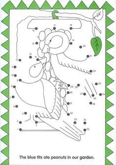 vogels , dot to dot, free printable