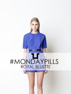 Like a Queen indeed, with the Royal Bluette Dress  #SpaceStyleConcept #FallWinter14 #Dress #Outfit #MondayPills