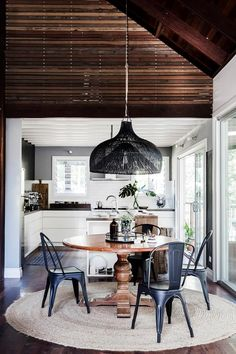 Give your dining room an elegant update with these stylish round dining table ideas from the pages of Australian House & Garden. Dining Nook, Dining Room Walls, Round Dining Table, Dining Room Design, Dining Room Furniture, Living Room, Natural Wood Dining Table, Furniture Design, Wood Tables