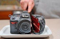 Very cool Red Velvet camera cake #cakeart