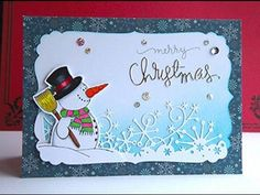 Simply Simple FLASH CARD - Snow is Falling Christmas Card by Connie Stewart - YouTube