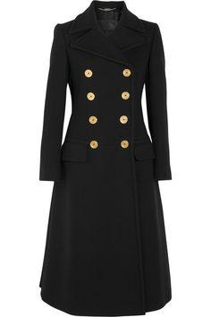 ALEXANDER MCQUEEN Double-Breasted Wool Coat. #alexandermcqueen #cloth #coats