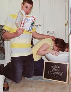 Pregnancy Announcement/ Pregnancy Reveal... I can so see us doing this lol (FUTURE PIN)