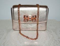 0737ebcfdd3 Ted Baker London Bow Detail Rose Gold Bronze Leather Cross Body Bag -  Tradesy Clutch Bag