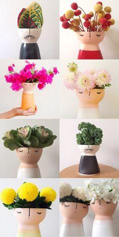 vases en forme de personnages