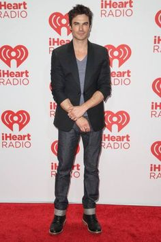 Ian Somerhalder hits the red carpet backstage at the 2013 iHeartRadio Music Festival held at the MGM Grand Garden Arena on Saturday night (September 21) in Las Vegas, Nev.