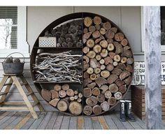 originální přístřešek na dřevo