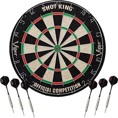 Enjoy a quality game of darts with the Hathaway Winners Choice sisal dart board. Made of superior grade, self-healing sisal fibers, this tournament style dart board features a moveable metal number ring Dart Board Set, Dart Set, Sisal, Cricket Scoreboard, Darts And Dartboards, Best Darts, Professional Darts, Darts, Knives
