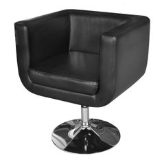 Office Furniture Black Adjustable Remote Control Arm Chair Living Room Recliner Sofa With Chrome Base And Upholstered Swivel Chairs, Swivel Armchair, Arm Chairs, Sofa Chair, Lounge Chairs, Accent Chairs, Dining Chairs, Black Leather Chair, Dining Rooms