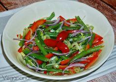 Salada de Vagens com Pimentão e Cebola