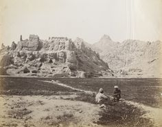 Photograph of the ruins of old Kandahar citadel from the 'Bellew Collection: Photograph album of Surgeon-General Henry Walter Bellew' taken by Sir Benjamin Simpson c.1881.