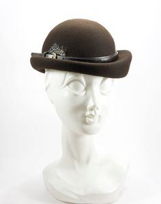 Brown Wool Felt Bowler for Women by HutFreunde on Etsy, €125.00
