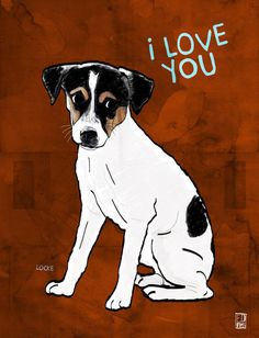 Rat Terrier Art Print by Ed Pires, sold at: http://society6.com/EdPires/Rat-Terrier-Hyu_Print