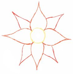 Simple Flower Drawing Outline