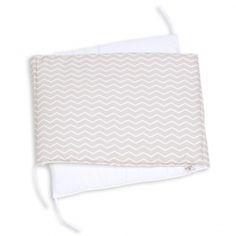 Babybett Nestchen 'Zick Zack' beige/weiß in 2 Größen