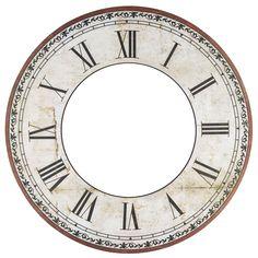 Clock Craft, Clock Decor, Roman Clock, Clock Face Printable, Clock Template, Book Clock, Steampunk Clock, Mini Things, Vintage Labels