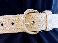 Straw Vintage Belt, Modern Size 4 to 6, Extra Small to Small