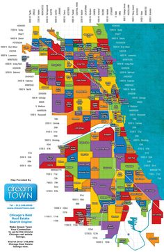 Map of Chicago neighborhoods.  get a better one at the Chicago Architecture Foundation!