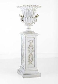 White Garden Urn