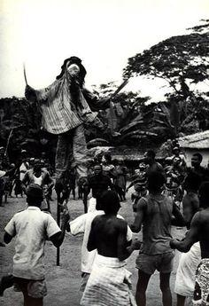 Africa | Masquerader from the Punu people of Gabon | ©Michel Renaudeau / Michel Huet