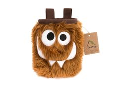Chocolate Foodie Monster Chalk Bag, Rock Climbing Chalk Bag by Crafty Climbing