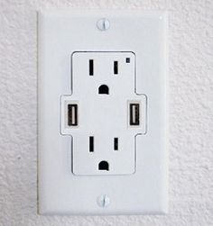 Add USB Ports To Your Wall Outlets | OhGizmo!