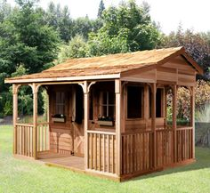 1000 images about sheds with porches on pinterest for Bunk house kits