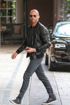 Jason Statham - Arrives at The Four Seasons Hotel
