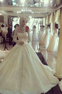 Hijab WeddingThough I'm not Muslim myself, I think Muslim wedding dresses and hijabs are so beautiful. Hijab Wedding Source : Though I'm not Muslim myself, I think Muslim wedding dresses and hijabs are …. Long Sleeve Bridal Dresses, Muslim Wedding Dresses, 2016 Wedding Dresses, Bridal Gowns, Wedding Gowns, Dresses 2016, Wedding Cakes, Muslim Wedding Gown, Muslimah Wedding