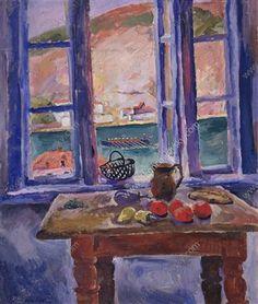 Balaklava. Window to the sea. - Pyotr Konchalovsky - 1929 ....................#GT