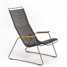 Lounge chair, CLICK SYSTEM, resin and steel, outdoor, by HOUE