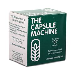 Recommended Capsule Machine (size 00) for Essential Oils. This brand but purchased anywhere. Great holder for making up to 24 at a time.