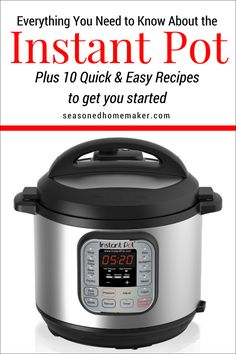 How To Use An Instant Pot Without Freaking Out — Food, Pleasure & Health - - Beginners guide on using Instant Pot, includes lots of tips and recipes to make you a confident Instant Pot user. New Pressure Cooker, Instant Pot Pressure Cooker, Pressure Cooker Recipes, Pressure Cooking, Cookbooks For Beginners, Recipes For Beginners, Cooking Tips, Cooking Recipes, Easy Recipes