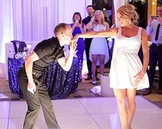 Wedding Couple Performs Dirty Dancing Routine